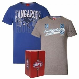 North Melbourne Kangaroos Two Tees in a Tin Adult Official AFL Mens Medium O-72