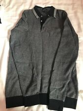 mens long sleeve collared jumper. used