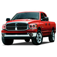 for Dodge Ram 1500 06-08 Red LED Halo kit for Headlights