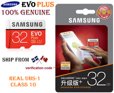 GENUINE SAMSUNG EVO PLUS 32GB 32 gb Micro sd TF Flash Memory MicroSDHC class 10