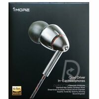 1MORE E1010 Quad Driver In-Ear Headphones Earphones Microphone remote Titanium
