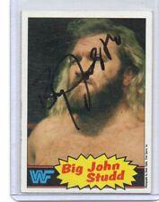 BIG JOHN STUDD 1985 TOPPS AUTOGRAPH CARD HAND SIGNED SUPER RARE! WWF SUPERSTAR