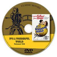 It's a Wonderful World 1939 DVD Film Claudette Colbert, James Stewart - Comedy