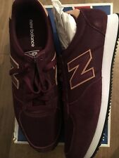 New Balance Uk 12.5 Trainers Burgundy Suede Textile Trainers New