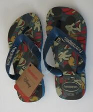 215639bf7 Disney Havaianas 11 12 Kids Youth Mickey Mouse Blue Flip Flops Shoes Flip  Flop