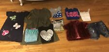 Lot Of 9 Girl 7-8 Yrs Justice Children Place DKNY Gymboree Shirts Sweaters