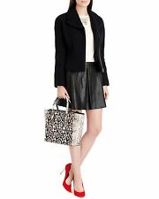 """New! Ted baker 100% Black Leather Panel Skirt Bnwt Ted 2/UK 10 """"Qiana"""""""