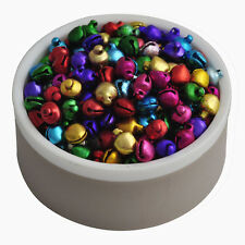 Wholesale 6x8 Mm 200 Pcs Colorful Aluminum Beads Jingle Bells Pendants Hot Gift