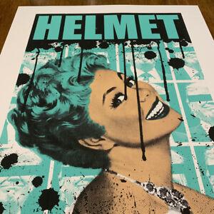 Helmet in Santa Cruz (Sign + #d) new silk screen art print/ gig poster