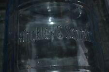 Vintage Hinkley & Schmitt Crissa 5 Gallon Water Jug blue glass