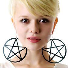 Neu Ohrstecker Ohrringe Bolzenohrringe Punkrock Runde Pentagram Stern Ohrringe