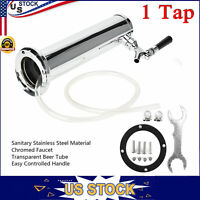 Chrome Single Stainless Steel Tower Beer Tap Single Faucet Draft Keg Kegerator