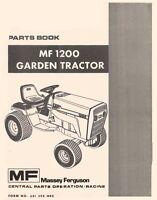 Massey Ferguson MF-1200 MF1200 Garden Tractor Parts Book Manual