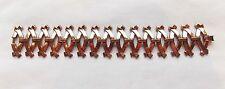 """Vintage RENOIR Copper Modernist Geometric Link Bracelet 7 3/8"""""""