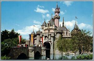 Vintage Postcard Disneyland Anaheim CA Sleeping Beauty Castle Drawbridge disney