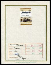 TUVALU RAILWAYS AUSTRALIA PROGRESSIVE PROOF 1985