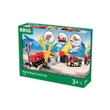 BRIO 33208 Rail & Road Crane Set 26pc New