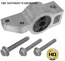 VW Touran 1t3 2010-onward FRONT LOWER ARM Trailing Arm Bush POSTERIORE + KIT DI BULLONI NUOVI