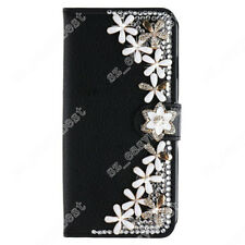 PU Leather Flip Bling Wallet Cover Case Diamond Phone Bag Purse For iPhone