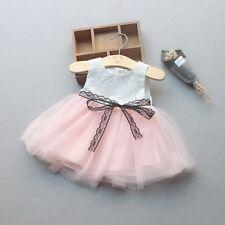 Newborn Baby Girl Sleeveless Kid Tulle Tutu Party Wedding Dress Princess Clothes