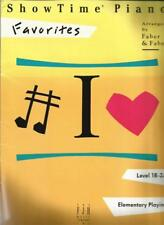 Showtime Piano Favorites Elementary Child Piano Playing Sheet Music Level 1B-2A