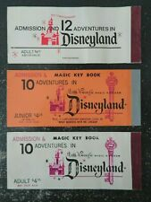 3 Vintage Disneyland Ticket Booklet Covers - No tickets - 2 1972 & 1 1973
