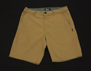 O'neill Reserve Khaki Brown Casual Tech Flat Hybrid Shorts Mens 32