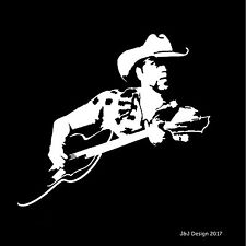 Jason Aldean Country Music Rock and Roll Music Guitar White Car Decal Sticker