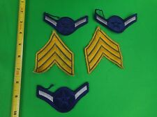 Lot of 5 Military & Police Cloth Rank Patches