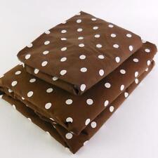 2PC POTTERY BARN TEEN TWIN DUVET COVER SHAM SET Polka Dot Brown White DORM BED