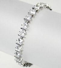 Cubic Zirconia sterling silver tennis bracelets BRL290001