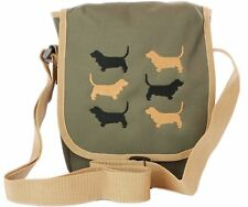 basset hound dog breed embroidered cross body bag original design bags for women