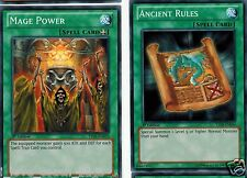 Ancient Rules + Mage Power YSYR-EN034  or ldk2  Mint   X 1st YUGIOH