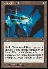 *MRM* ENGLISH Parchemin maudit - Cursed Scroll MTG Tempest