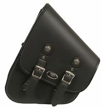 Left Side PVC TALL Slanted Swing Arm Bag w/ Interior Gun Pocket for Harley's
