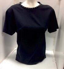 Barbara Bui Top Black Cotton Silver Studs Xs