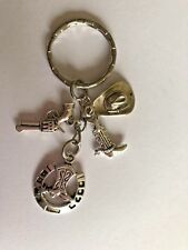 COWBOY COUNTRY & WESTERN INSPIRED Tibetan Silver Color Key ring gift bag