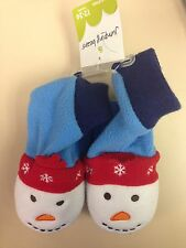 Toddler House Shoes / Fleece Slippers ~ Snowman ~ New! ~ 12-24 M ~