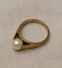 Antique 8ct 333 Art Deco Gold Not 9ct Pearl Ring