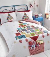 Christmas Advent Calender Boys Girls Children Single Duvet Cover Bedding Set