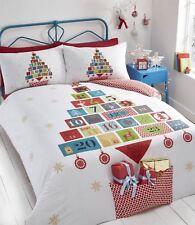 Advent Christmas Duvet Cover and Pillowcase Set White Single