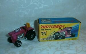 MATCHBOX SUPERFAST NEW 25 MOD TRACTOR LESNEY 1972 DINKY TOYS NOREV en boite
