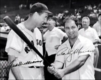 Ted Williams Rocky Marciano Autographed Repro Photo 8X10 - Red Sox 1955 Champ
