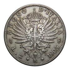 VITTORIO EMANUELE III - moneta da 2 lire argento anno 1905 Aquila Sabauda