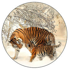 TIGER & CUB -  NOVELTY ROUND FUN FRIDGE MAGNET - BRAND NEW - GIFT / XMAS