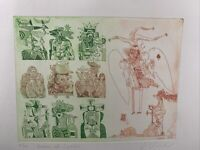 """Adam Wurtz Etching """"The Queen of Spades"""" Signed Limited Edition 7/100 1980"""