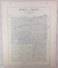 Antique General Land Office Map Reagan County Texas Showing Plats ++