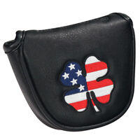 Golf Head Covers Mallet Putter Headcover Club Protector USA Clover Pattern New
