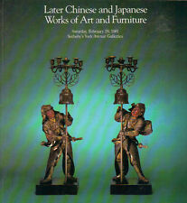 SOTHEBY'S CHINESE CERAMICS BRONZES CLOISONNE FURNITURE PAINTING JAPAN Catalog 81