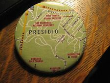 San Francisco California USA Presidio District Neighborhood Map Pocket Mirror
